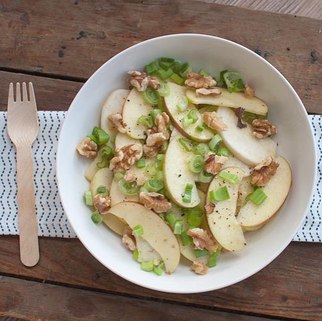Salade van meiknol en appel