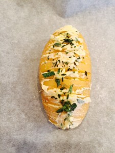 hasselback aardappel