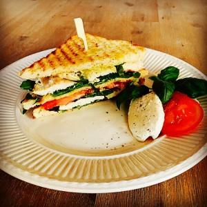 caprese club sandwich