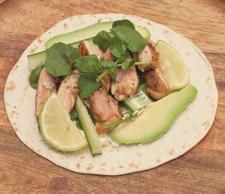 Chili lime chicken wraps