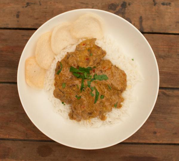 Indonesisch stoofvlees met kokosmelk
