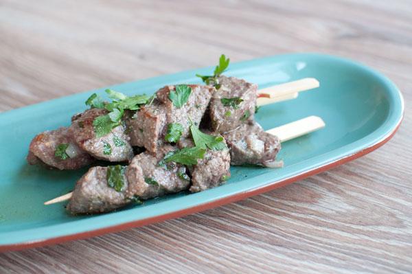 Marokkaanse biefstukspiezen