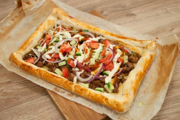 Makkelijke shoarmapizza