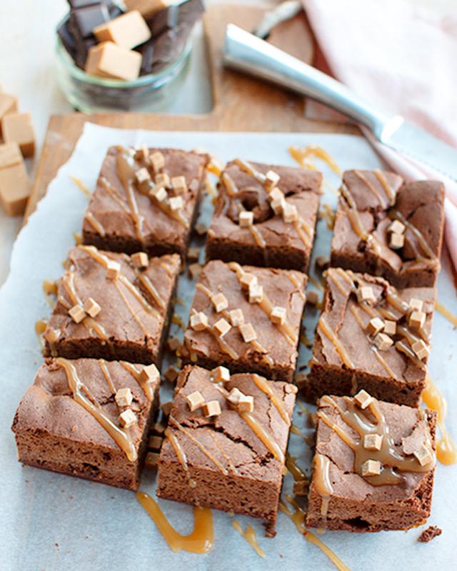 Brownies met salted caramel