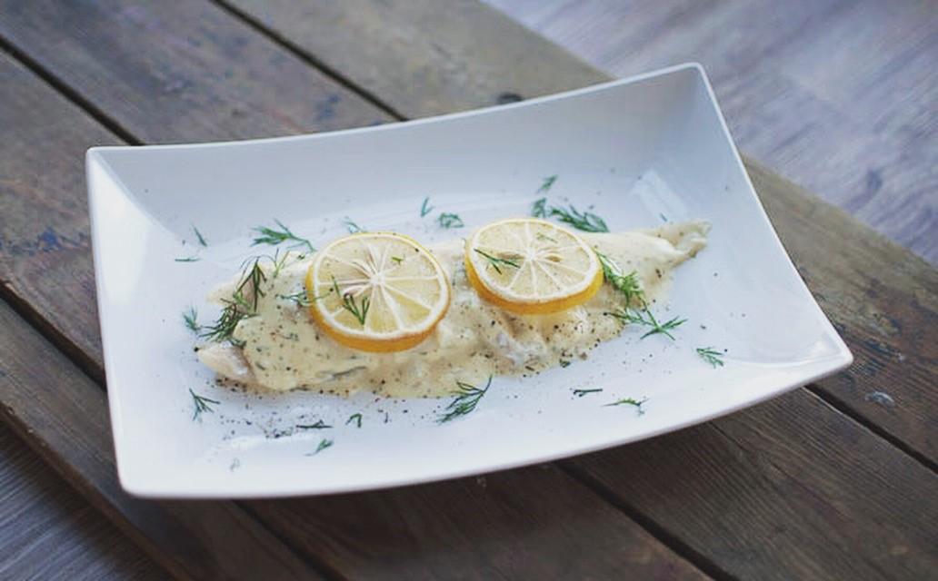 Kabeljauw uit de oven met citroensaus