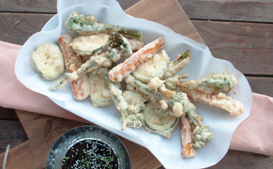 Groente in tempura