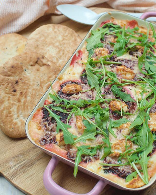 Lasagne van bietjes en geitenkaas