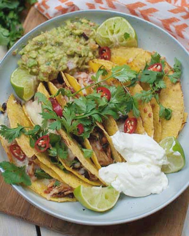 Taco's met kip een guacamole
