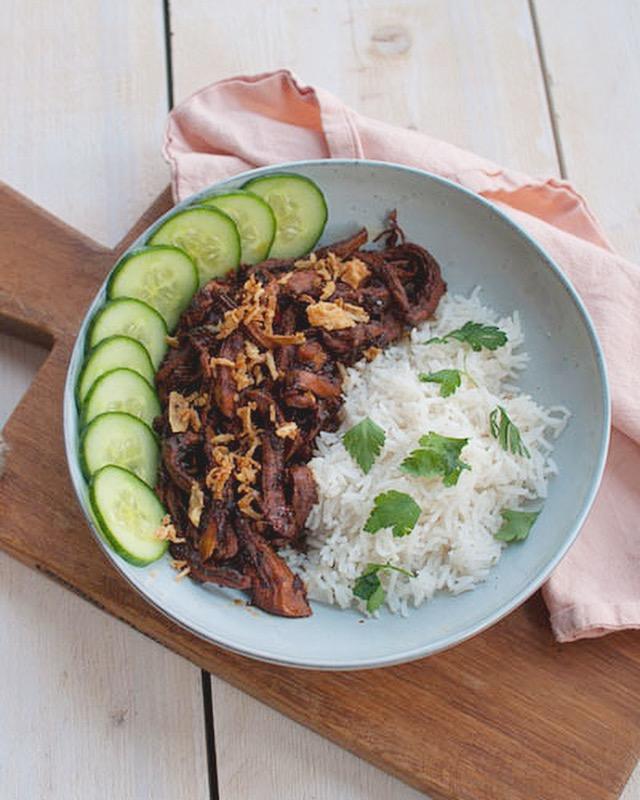 Kip ketjap met rijst