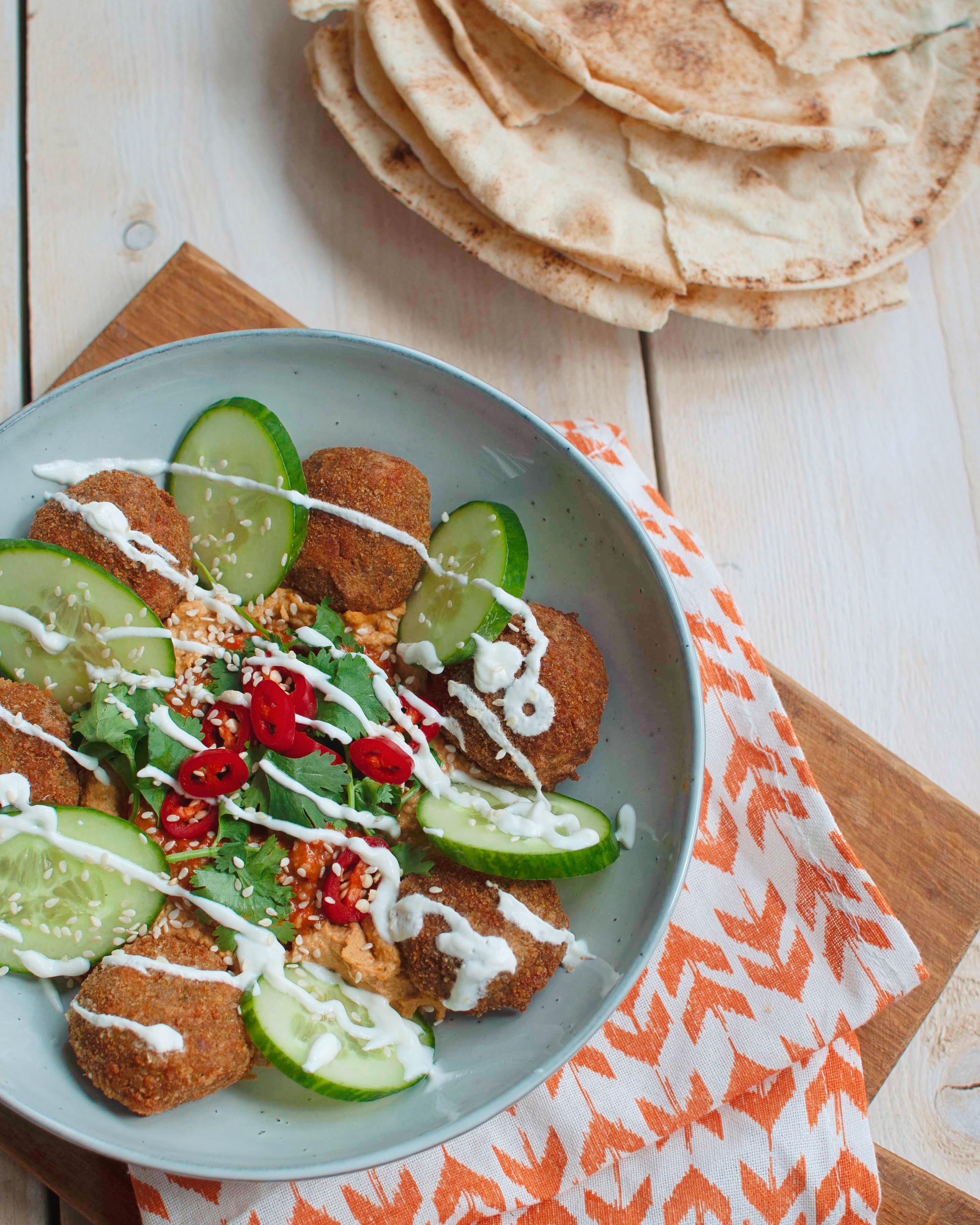 Krokante falafel