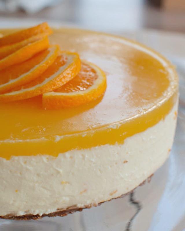 Sinaasappel kwarktaart met bastognebodem