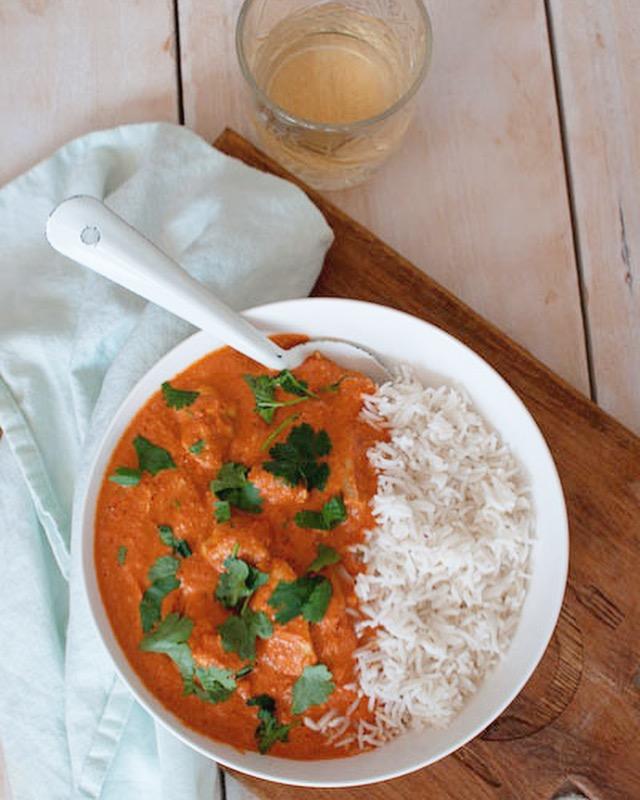 Indiase boterkip met rijst