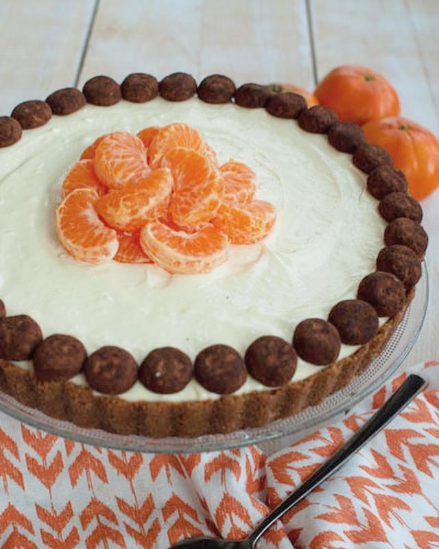 Monchou taart met speculaas en witte chocola
