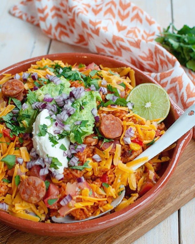 Mexicaanse rijst met chorizo