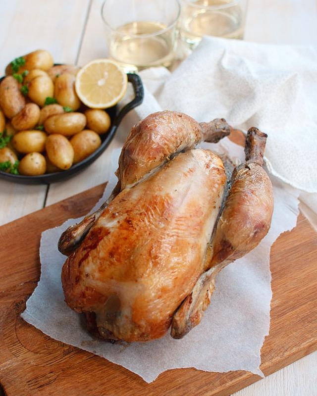 Hele kip uit de oven