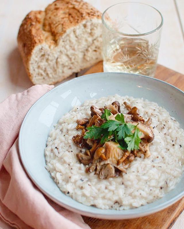 Risotto met truffel en paddenstoelen