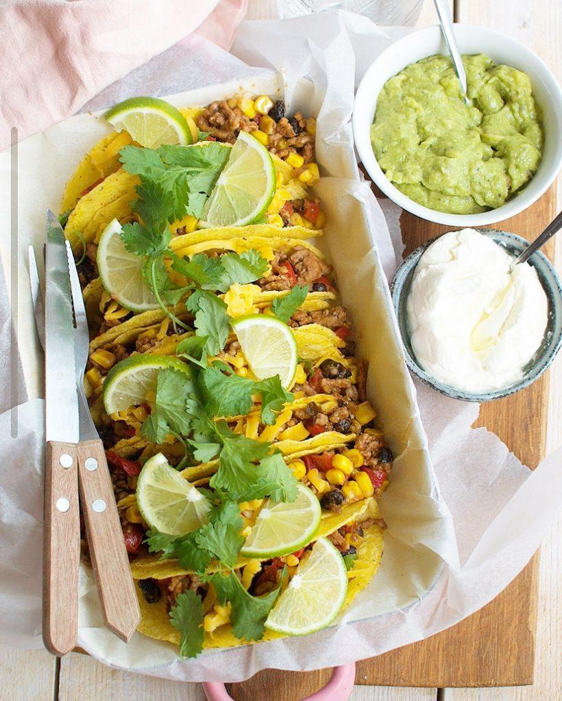 Mexicaanse taco's met gehakt en kaas