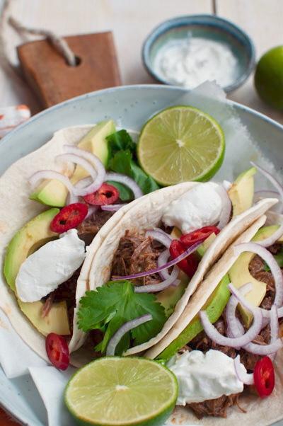 Taco's met pulled beef