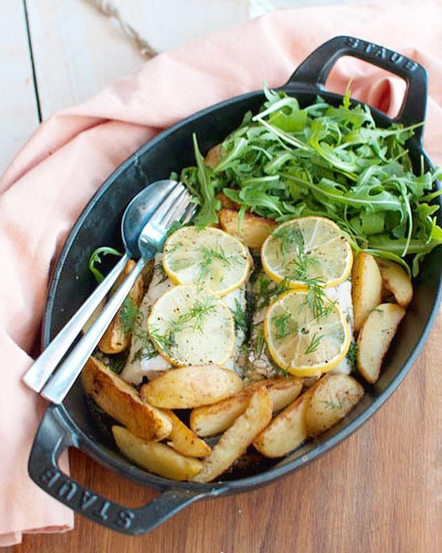Kabeljauw uit de oven met citroen en dille-knoflookboter