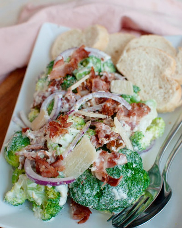 Broccolisalade met bacon