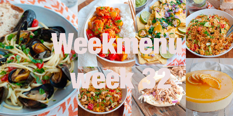Weekmenu week 32