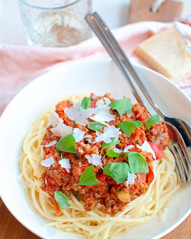Snelle en superlekkere pasta bolognese