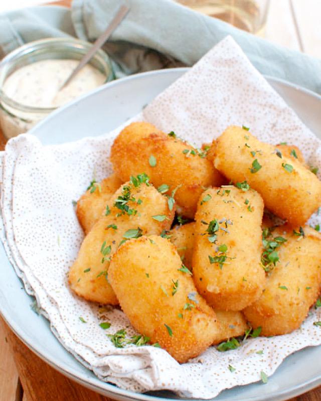 Aadappelkroketjes met Parmezaanse kaas