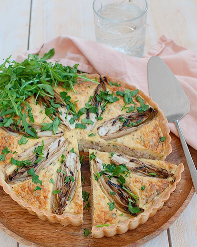 Witloftaart met ham en kaas