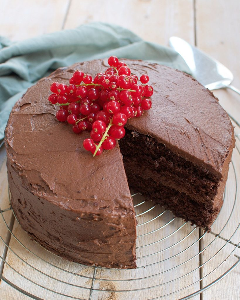 Gruwelijk lekkere dubbele chocoladetaart